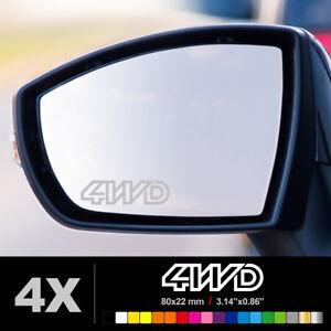 4WD Wing Mirror Glass Silver Frosted Etched Car Vinyl Decal Stickers - France - État : Neuf: Objet neuf et intact, n'ayant jamais servi, non ouvert, vendu dans son emballage d'origine (lorsqu'il y en a un). L'emballage doit tre le mme que celui de l'objet vendu en magasin, sauf si l'objet a été emballé par le fabricant d - France