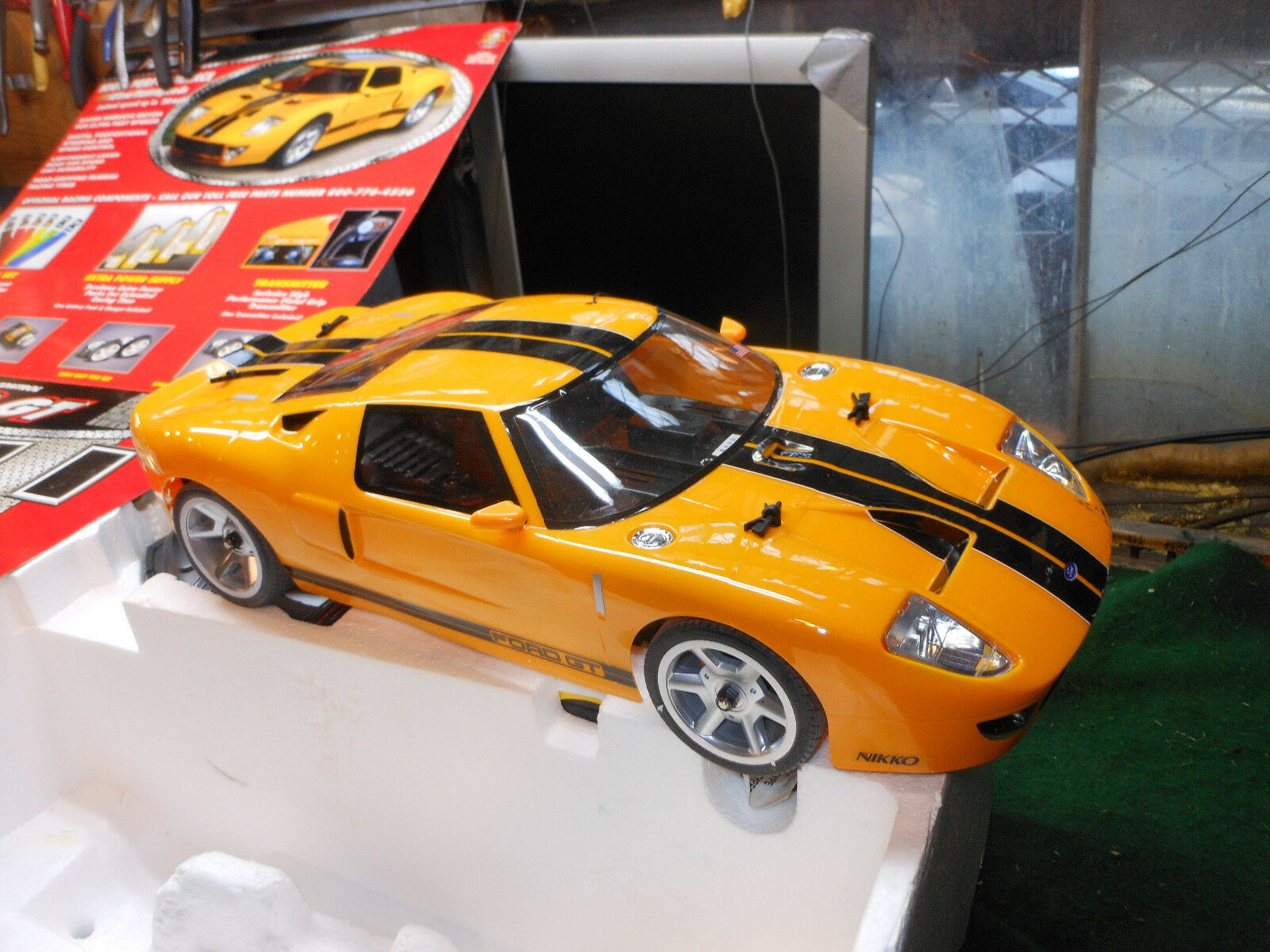 Vintage RC 1 10 NIKKO Ford GT Rare R C CAR - Ready To run Nver used
