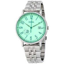 New Women's Fossil Vintage Green Muse Stainless Steel Bracelet Watch