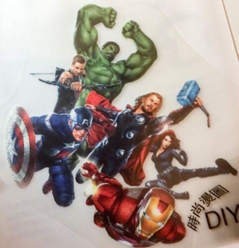 Superhero inspired iron on transfer kids diy t shirt cartoon marvel patch badge