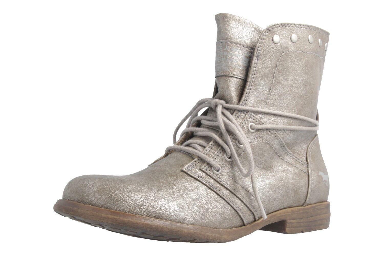 Mustang schuhe Stiefel in Übergrößen große Damenschuhe Grau XXL    | Sehr gute Qualität