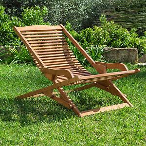 Sdraio vip ergonomica da giardino in legno ideale per for Giardino e arredamento esterni