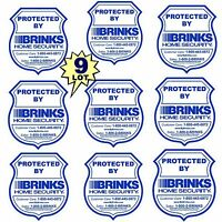 Lot 9 Brinks Adt Home Store Security System Alarm Decal Warning Sticker Signs