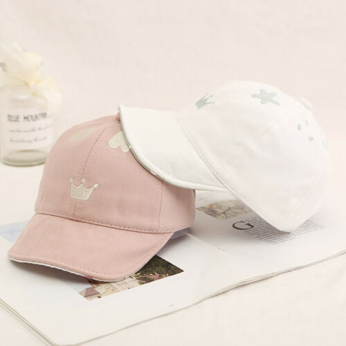 Lovely Heart Crown Baby Girls Hats Cotton Baby Toddler Baseball Cap Summer Hats