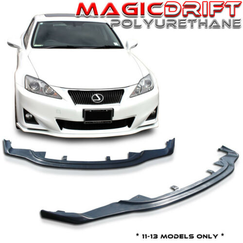 For 11-13 Lexus IS250 IS350 JDM PM Front Side Skirt Extension Combo Body Lip Kit