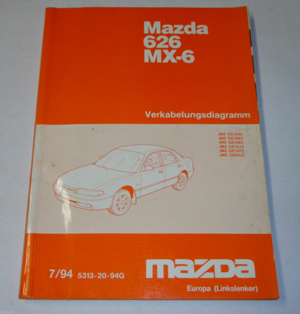 Workshop Manual Mazda 626  Mx  Ge Electric