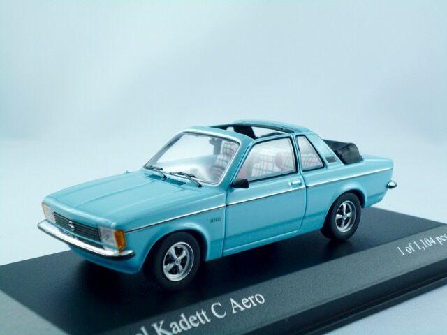 Opel Kadett C Aero    1978  kristallblau       Minichamps  1 43    Räumungsverkauf