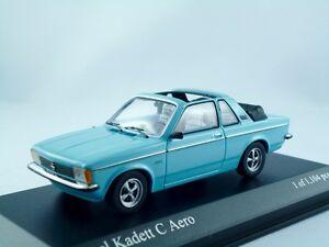 Opel Kadett C Aero    1978  kristallblau    /  Minichamps  1:43