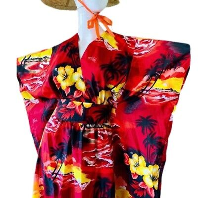 blue floral dress lace dress kaftan Vintage muumuu maxi kaftan oversized dress maxi dress 70s dress bohemian dress tropical kaftan