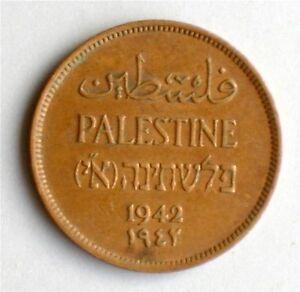 Israel-Palestine-British-Mandate-1-Mil-1942-Coin-XF