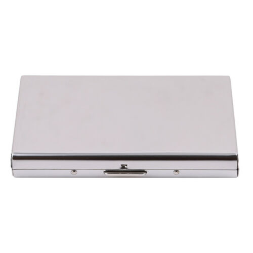 Stainless Steel ID Credit Card Box Holder RFID Blocking Case Wallet Bussiness