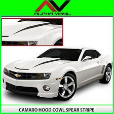 Chevrolet Camaro Hood Spears Spear 2010 2011 2012 2013 Decals Matte Black