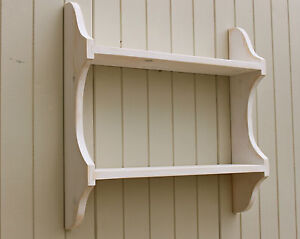Image Is Loading 2 Tier Shabby Chic Wall Rack Bookshelf In