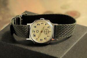 Pobeda-Armbanduhr-Davidstern-Russische-Sowjetische-Gurt-sieht-toll