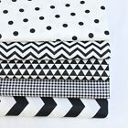 One PCS Cotton Fabric Pre-Cut Quilt Cloth Fabric for Sewing Black and white C2