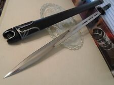 "United Samurai 3000 Future Ninja Chrome Dual Edge Sword Knife UC1259 35 1/2"" OA"