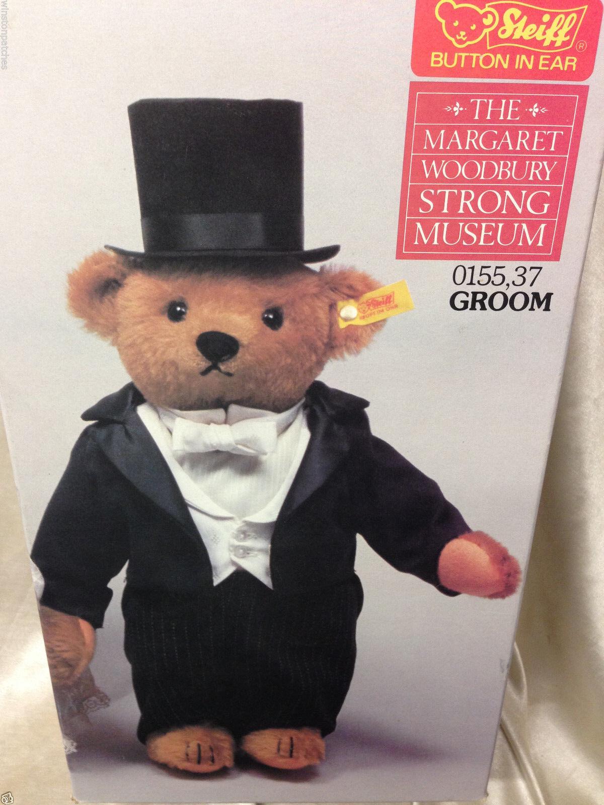 MARGARET WOODBURY STRONG MUSEUM STEIFF TEDDY BEAR GROOM IN ORIGINAL BOX
