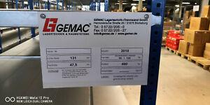 Fachbodenregal GEMAC Länge 13.100 mm, Höhe 2.500 mm, Breite 1.200 x 1.310 mm