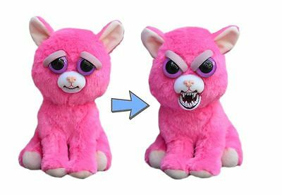 Feisty Pets Animal Plush Pink Cat Toy Gift For Kids Fun Scary Lady Monstertruck