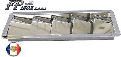 Grille d/'aération 4 volets Moteur 205mmx112mm inox 316