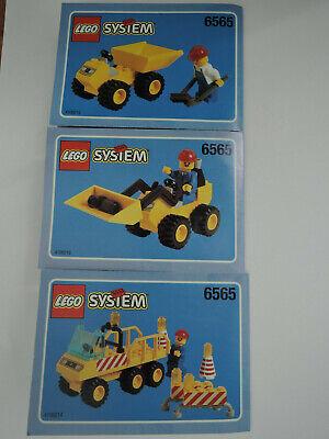 Das Beste Lego System 6565 Baustellenfahrzeuge Kpl. + Anleitung + Figuren 100% Original