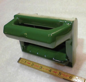 Vintage…NOS…Fo<wbr/>rest Green…Ceramic…<wbr/>Soap Dish with Grab Bar…The Fairfacts Co.
