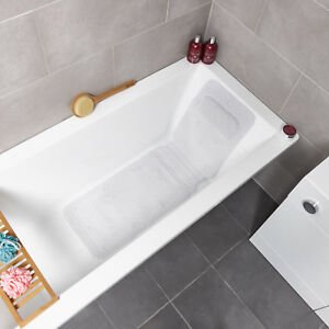 Details About Luxury Cushioned Non Slip Bath Mat With Pillow Head Rest Bathtub Bathroom White