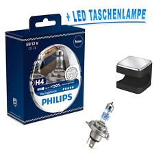 Philips H4 x-treme Racing Vision +150% 2st. + OSRAM LED Taschenlampe Schwarz