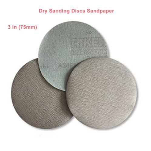 """3/""""75mm Schleifscheiben Sandpapier P60-1200 Schleif Polieren Dry Sanding Disc Pad"""