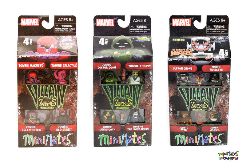 Marvel Minimates Zombies Villains and 3 Complete Box Set Collection