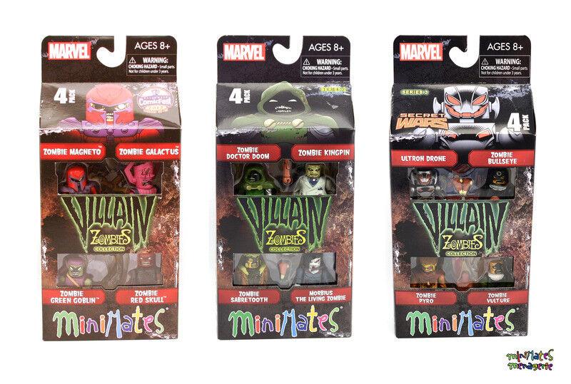 Marvel Minimates Zombies Cattivi  1, 2 e 3 Completo Scatola Set Collezione
