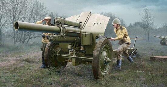Soviet 122mm Howitzer 1938 M-30 Late Version 1 35 Plastic Model Kit TRUMPETER