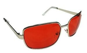 Sonnenbrille-Sunglasses-chrome-rote-Linsen-Club-red-lence-Tyler-Durden-Fight-new