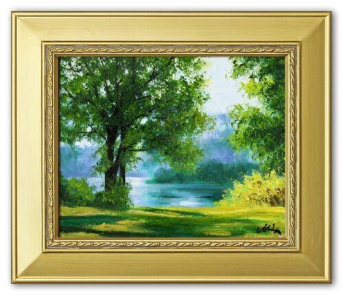 Dipinto natura interamente a mano quadro olio Ölbilder immagine immagini quadro g05697