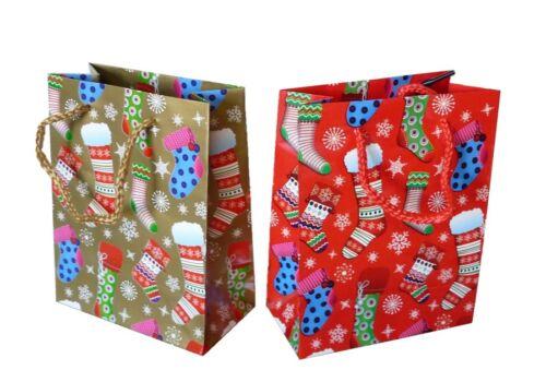 36 er Set Geschenktüten 11,4 x 14,6 cm Weihnachten Strumpf Weihnachtstüte