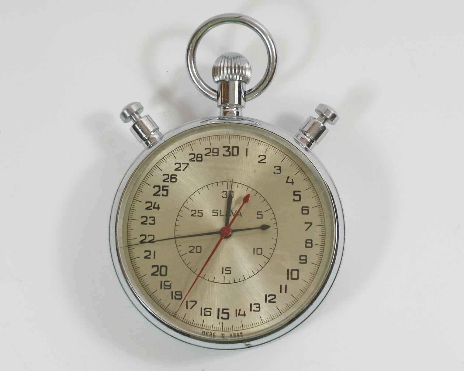 SLAVA Stop Russian Soviet Stop SLAVA Watch Mechanical stopwatch USSR (sl26) 6a063d