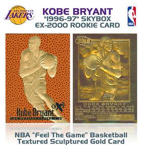 1996-97-KOBE-BRYANT-Feel-The-Game-NBA-SKYBOX-EX-2000-ROOKIE-23K-GOLD-Card