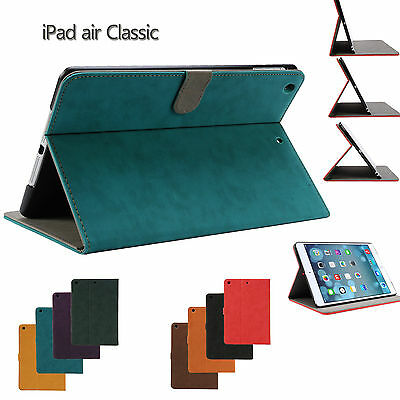 Classic Luxury Pu Leather Smart Cover Case for Apple iPad Air iPad 5