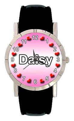 Name Watches, Parts & Accessories Daisy Mens Womens Genuine Leather Band Quartz Movement Wrist Watch Sa1726 Discounts Price Jewelry & Watches