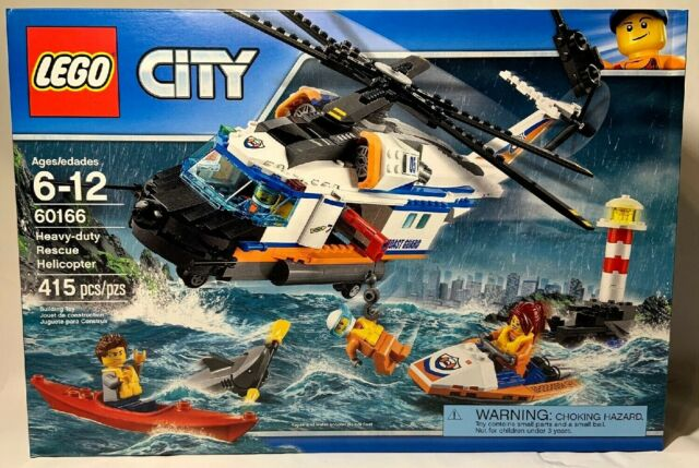 Retired Lego City 60166 Heavy Duty Rescue Helicopter 415 Pcs New Free Canada Shp