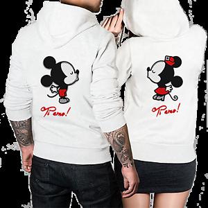Felpe-di-coppia-King-amp-Queen-Mickey-Minnie-con-Cappuccio-Regalo-San-Valentino