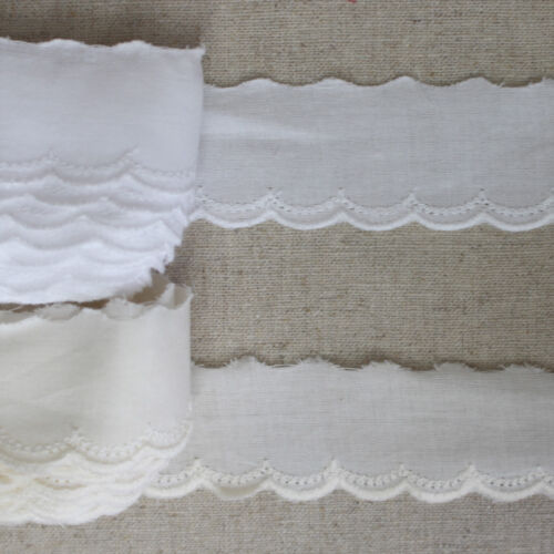 YH1351 laceking2013 14Yds Broderie Anglaise cotton eyelet lace trim 2cm 0.8/""