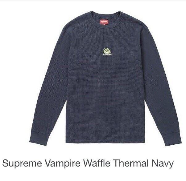 Supreme Vampire Waffle Thermal Größe M, Navy