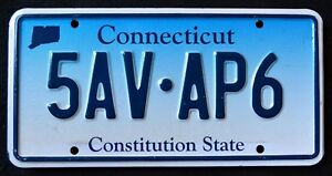 CONNECTICUT-034-CONSTITUTION-STATE-BLUE-MAP-5AV-AP6-034-CT-Graphic-License-Plate