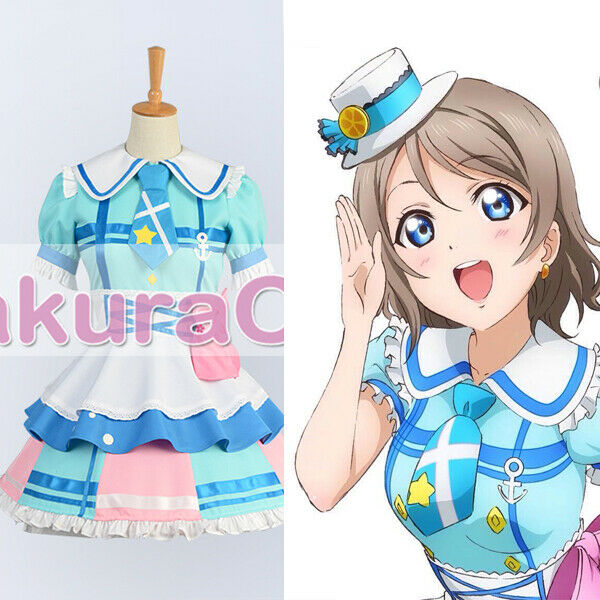 Love Live Aqours' First Single You Watanabe Cosplay Costume Carnival Party Dress