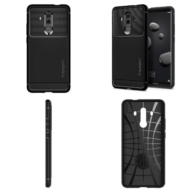 sale retailer 5765a dd6a7 Huawei Mate 10 Pro Case Cover Rugged Armor With Resilient Shock Absorption  Black