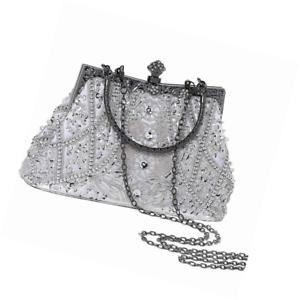 BABEYOND 1920s Flapper Clutch Gatsby Pearl Handbag Roaring 20s Evening Beaded Co