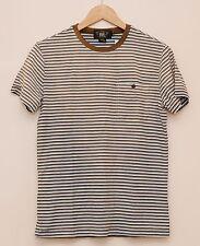 NEW Ralph Lauren RRL DOUBLE RL Men's Brown Striped Casual T Shirt S