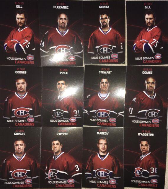 Mini Postcards Canadiens Hockey 2009-2010 (rare) Lot Of 12 Montreal