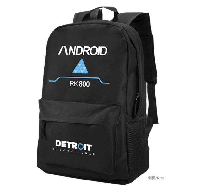 a9f6290bfea1 Detroit Become Human Connor Rk800 Backpack Schoolbag Laptop Travel Bag  Satchel